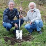 Gordon Buchanan (left) and Alan Watson Featherstone of Trees for Life
