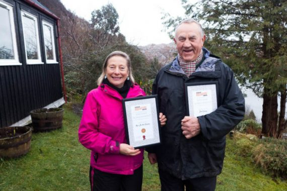 Marie Christine and John Ridgway and their Lifetime Achievement awards copy