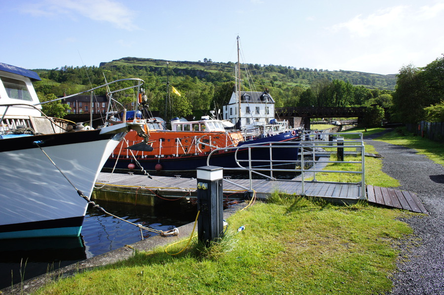 Forth & Clyde and Union Canal towpaths (Walkhighlands): http://www.walkhighlands.co.uk/forth-clyde-union-canal.shtml