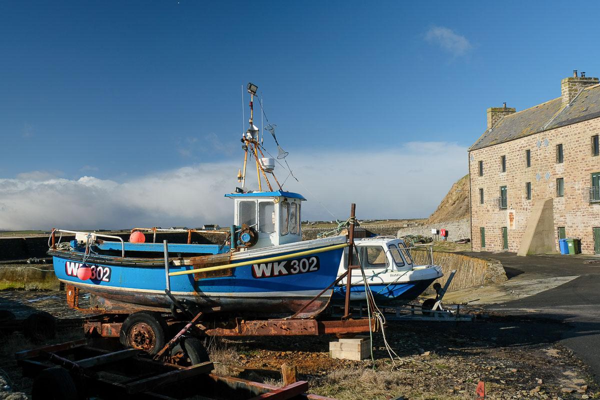 BUCHOLLIE CASTLE FISHING BOATS JOHN O/' GROAT HOTEL