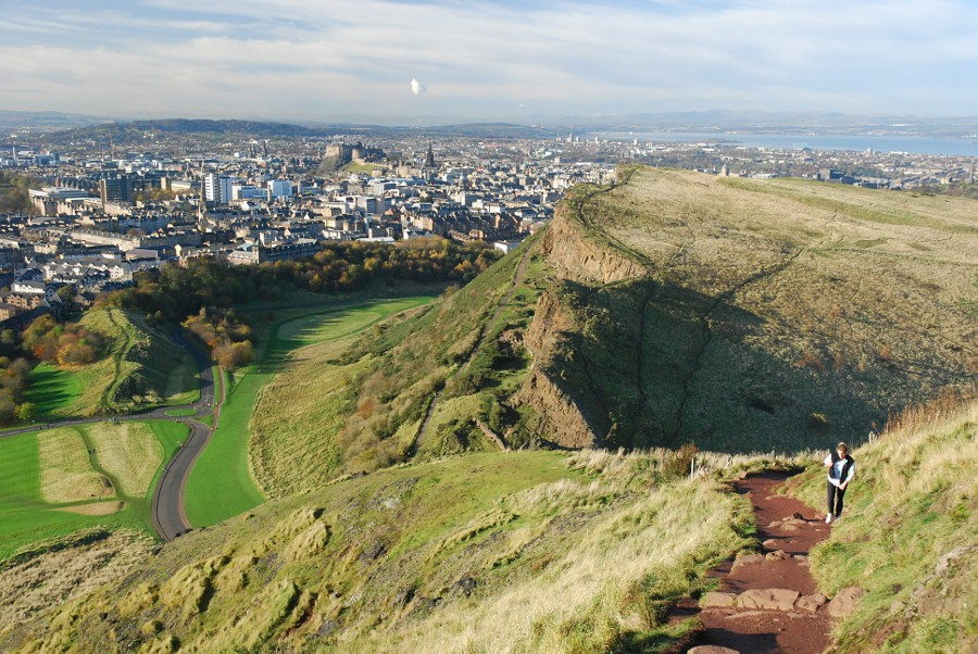 The impressive view on Arthur's Seat