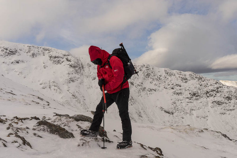 Michael of clan Mcgregor, feeling winter's pinch on Beinn a' Bheithir.