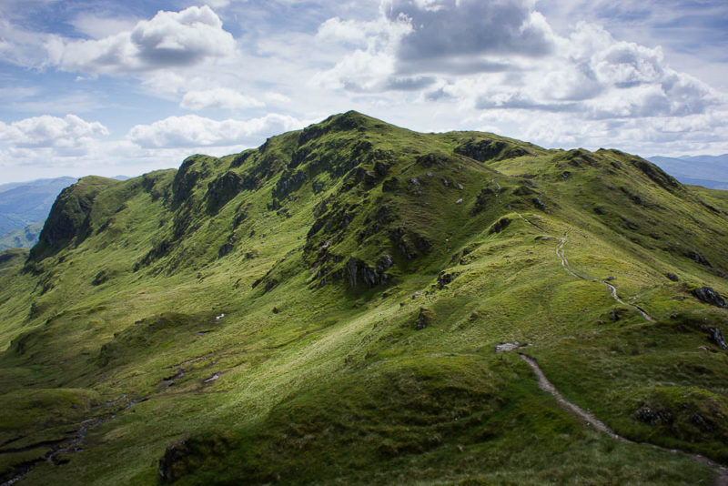 Creag na Caillich, at the end of the Tarmachan Ridge