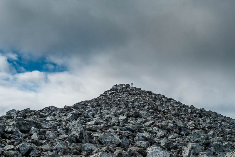 The talus covered summit of Scheihallion  - refuge of faeries?