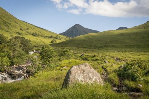The stalkers path by Allt Mheuran, soon to become a road